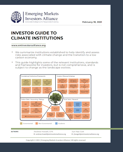 Alliance Investor Guide to Climate Institutions